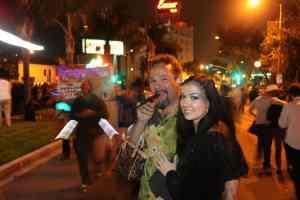 Johnny y Violet en West Hollywood (Halloween '12)