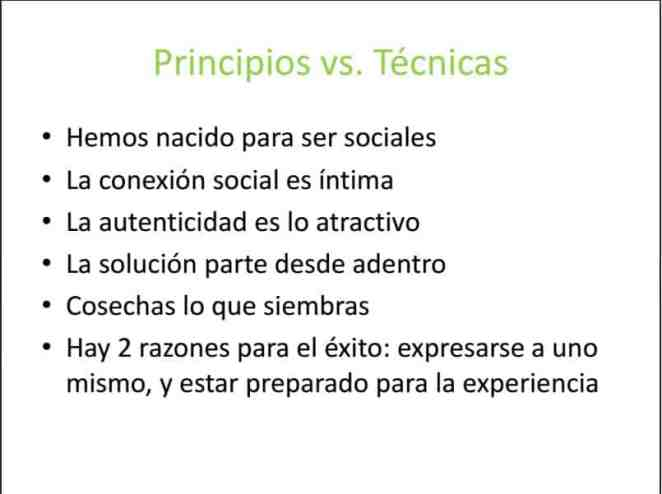 Principios vs Técnicas