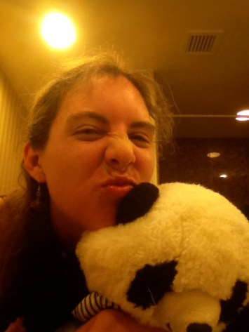 A Fairy and her Panda take an Awkward Duckfack Bathroom Selfie in Las Vegas