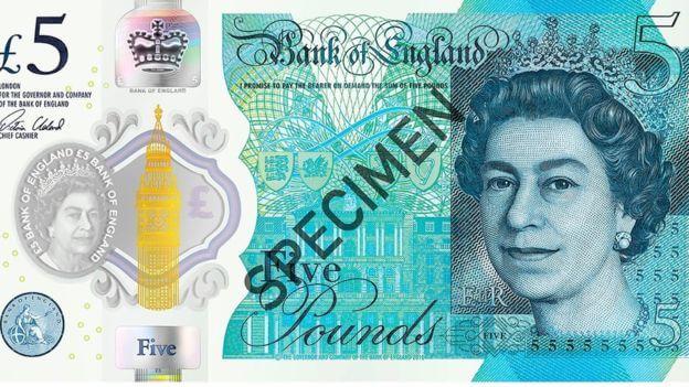 nouveau billet monnaie anglaise