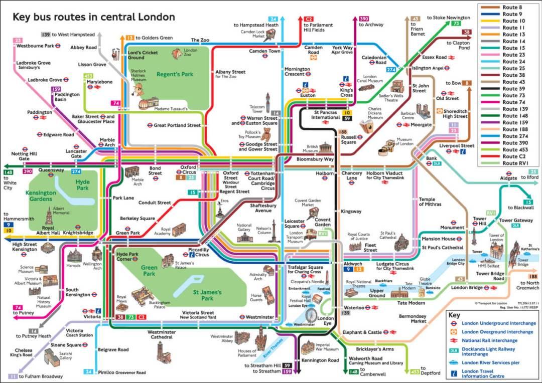 Plan bus Londres gratuit ! | La vie à Londres