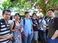 The CERN crew enjoying a tasting at Domaine des Abeilles d'Or (Jonathan, Mia, Josh, Joe, Rob, and Doug)