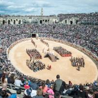 2016.04.23 / Nimes / Arenes / Grands Jeux Romains / Cleopatre/ Culturespaces / Spectacle