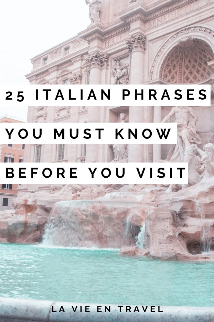 image regarding Italian Phrases for Travel Printable identified as 25 Easy Italian Words and phrases Oneself Should Understand Ahead of By yourself Go to - La