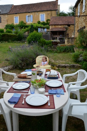 During the warmer months, the large outdoor area is ideal for al fresco dining and perfect for the messier eaters in the family.