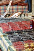 The sweet smell of berries linger in the summer markets, long before you see the bright tubs.