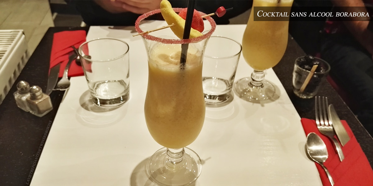 J'ai testé pour vous : le cocktail sans alcool Borabora – restaurant Le 8