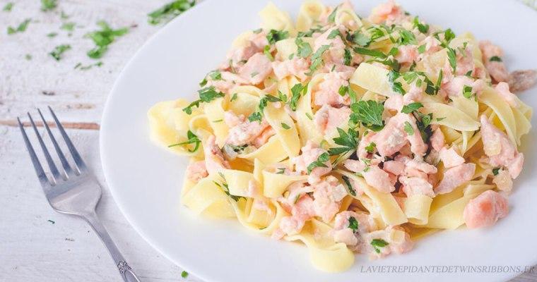 tagliatelles au saumon