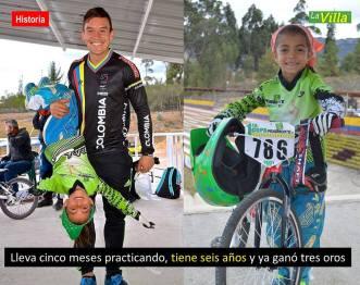 Con tan solo seis años, Sara Sofía Osorio Veloza, ya es considerada una promesa en el BMX. La Villa.