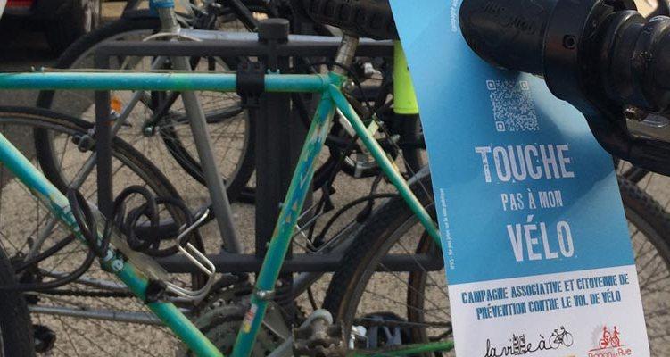 « TOUCHE PAS À MON VÉLO »  Campagne associative et citoyenne de prévention  contre le vol de vélo