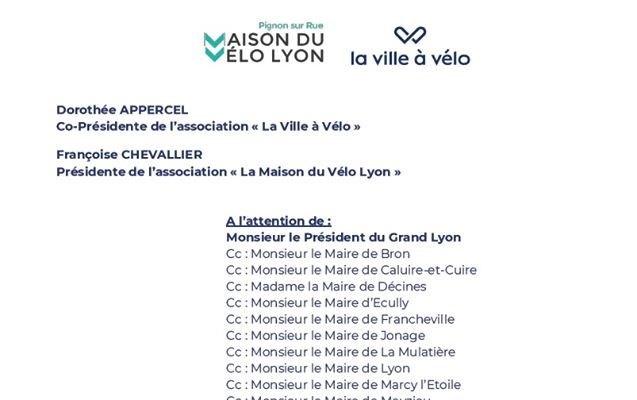 Lettre à Monsieur David Kimelfeld, Président de la Métropole de Lyon