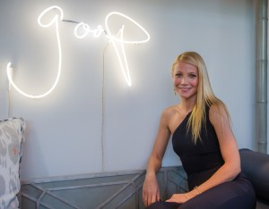 DALLAS, TX - NOVEMBER 20:  Gwyneth Paltrow poses for a photo as she celebrates the launch party for Goop Pop on November 20, 2014 at Highland Park Village in Dallas, Texas. NOTE TO USER: User expressly acknowledges and agrees that, by downloading and or using this Photograph, user is consenting to the terms and conditions of the Getty Images License Agreement. Mandatory Copyright Notice: Copyright 2014 (Photo by Layne Murdoch Jr./Getty Images)