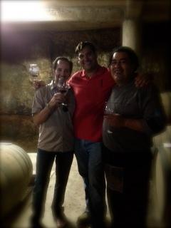 L to R ÁlXimia's Álvaro Álvarez, Pasión Biba´s Abel Bibayoff and Lozhka Bistrot's Chef José Bossuet