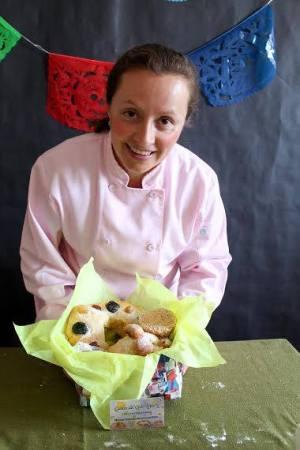 "Karla Jiménez, dueña de  ""Caídos del Cielo Bakery"".  Foto: Karla Jiménez"