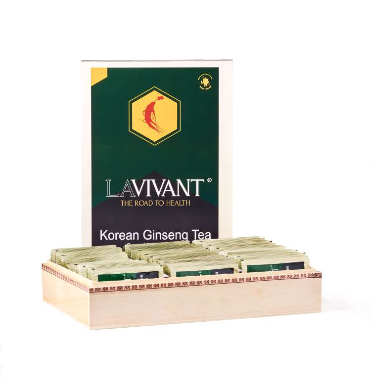 Lavivant ginseng tea for boosting energy and stamina