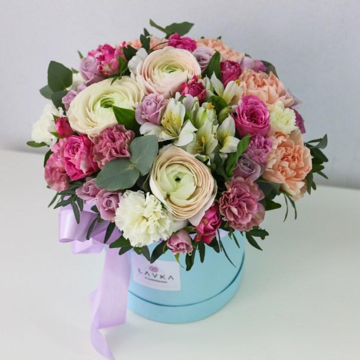 цветы в коробке уфв