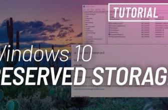 Reserved Storage windows 10