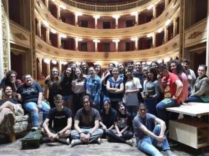 I ragazzi del corso in teatro