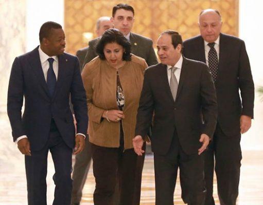 """Résultat de recherche d'images pour """"Faure Gnassingbe visiting egypt cairo"""""""