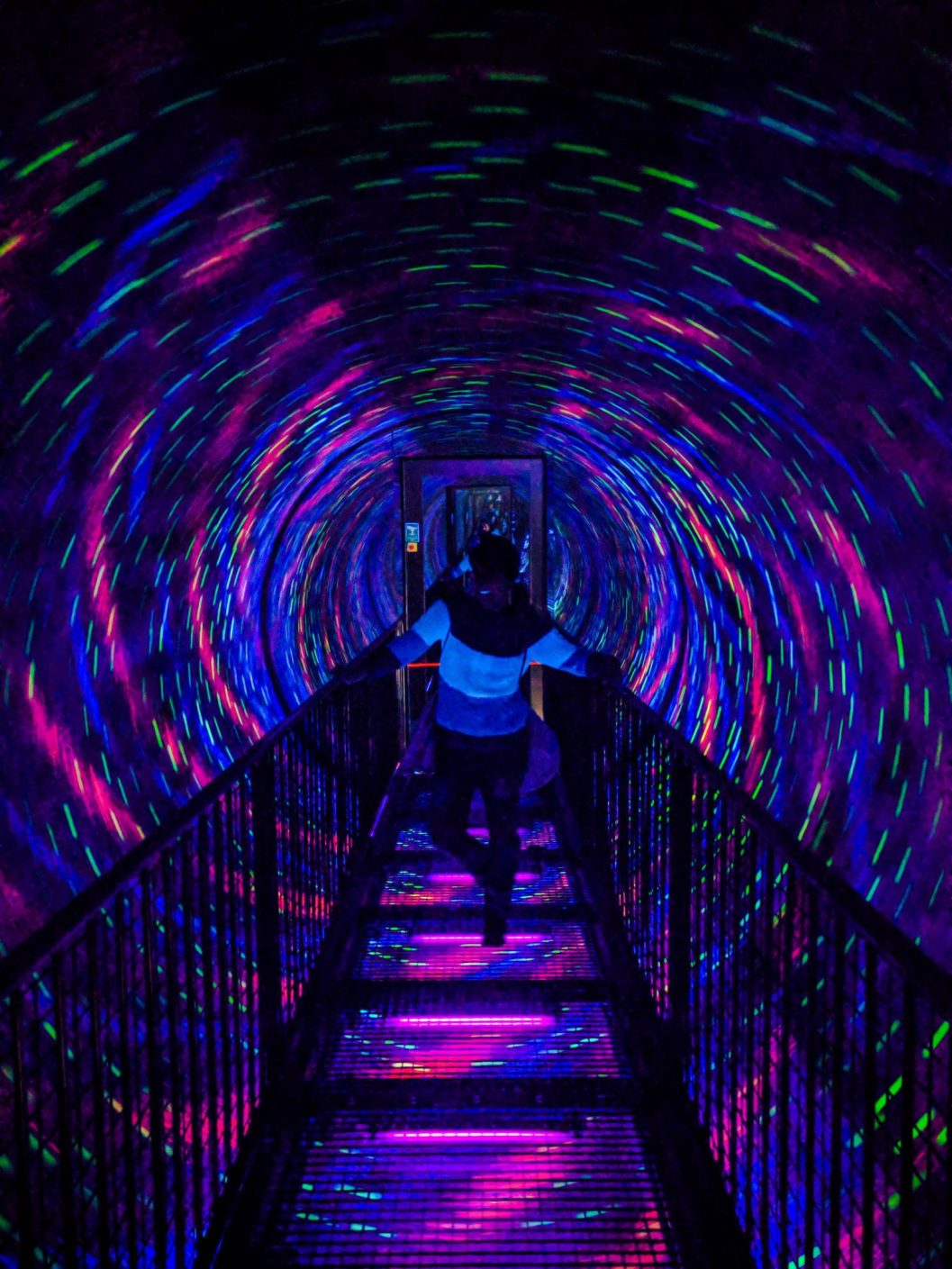 Tunnel Psichedelico alla Camera Obscura di Edimburgo