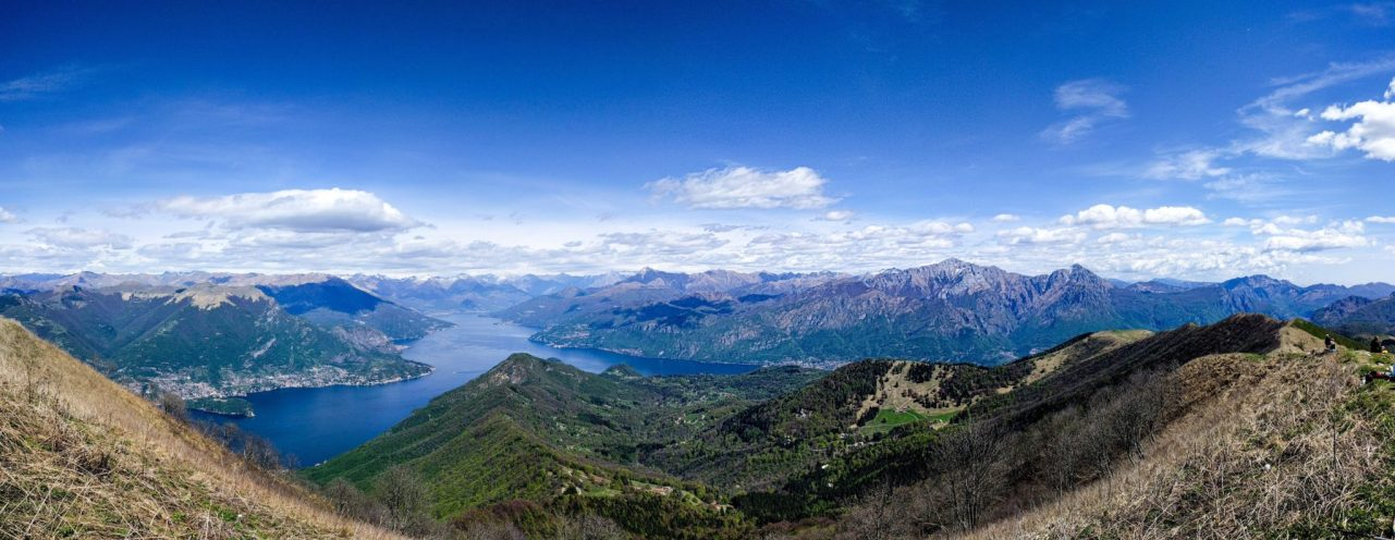 View on Lake Como from Monte San Primo