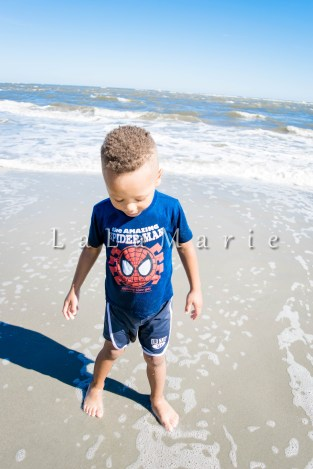 Our October walk on the beach quickly became a splash session! Love my little beach bum
