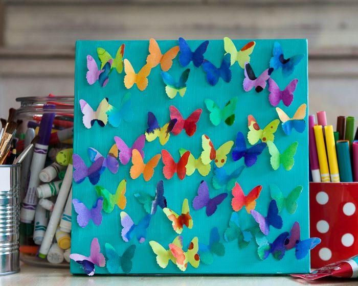 il quadro di farfalle