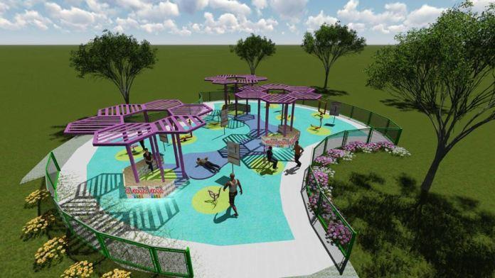 Iniciaron obras para construir un parque biosaludable en Saladoblanco   La  Voz de la Región