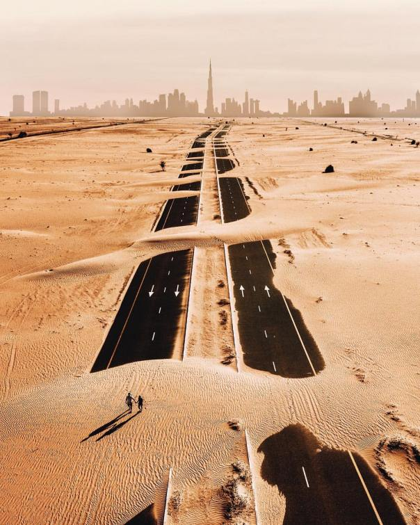 Carretera hacia Dubai