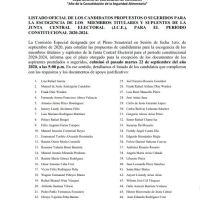 @senadorepdom Senado presenta listado de aspirantes a la JCE