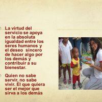 El servicio: virtud que permite dar, ayudar y estar pendientes de las necesidades de los demás