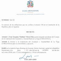 Decretos 542, 562 y 566-20 emitidos por el Presidente @LuisAbinader @PRM_Oficial