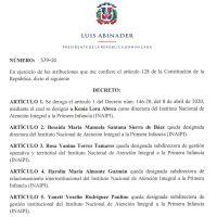 Decreto 579-20 emitido por el Presidente @LuisAbinader @PRM_Oficial