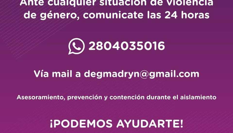 CONTINÚA VIGENTE EL PLAN DE CONTENCIÓN A MUJERES VÍCTIMAS DE VIOLENCIA DE GÉNERO DURANTE EL AISLAMIENTO