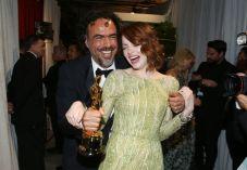 Emma Stone e Iñárritu celebran el triunfo de 'Birdman'
