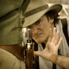 """Director Quentin Tarintino on the set of Columbia Pictures' """"Django Unchainded,"""" starring Christoph Waltz and Jamie Foxx."""