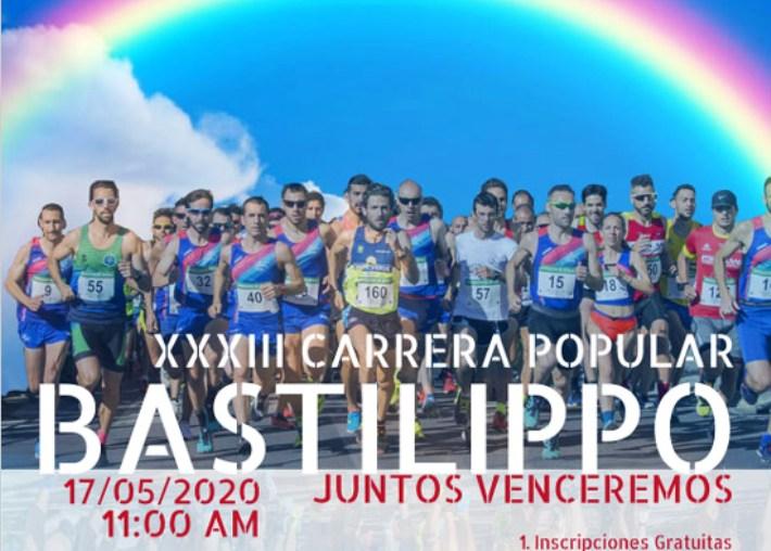 Habrá una carrera Bastilippo virtual para el 17 de mayo 1