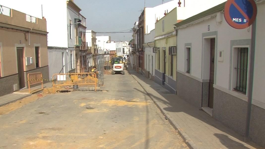 obras en calle Divina Pastora