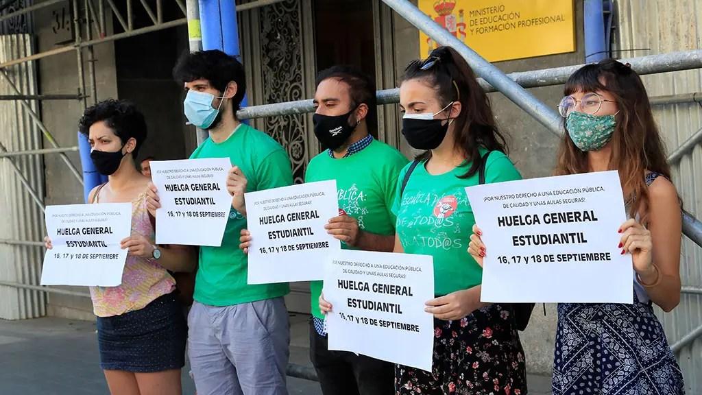 sindicato estudiantes huelga