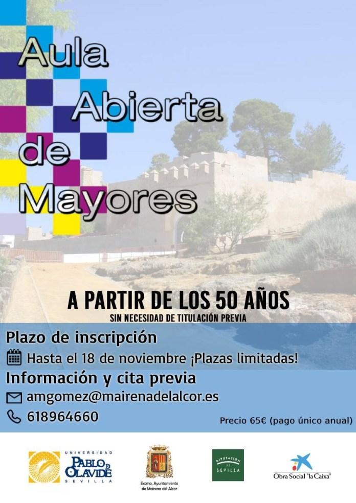 Matricúlate al Aula de Mayores de Mairena del Alcor 1