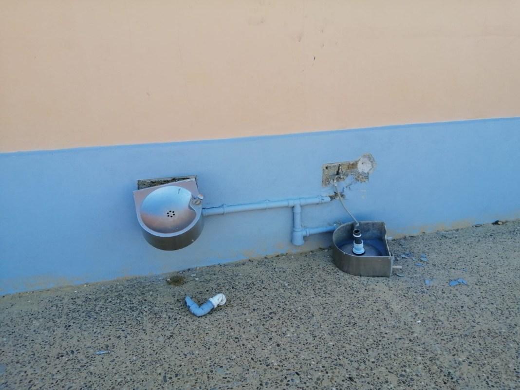 destrozos en colegio Juan Caraballo
