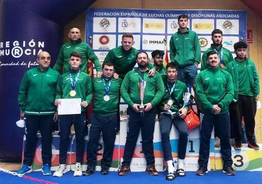 El club de luchas olímpicas Milu de Alcalá, subcampeón de España
