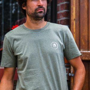 Tee-shirt Homme – Kaki chiné