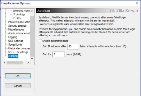 FileZilla Server - Autoban