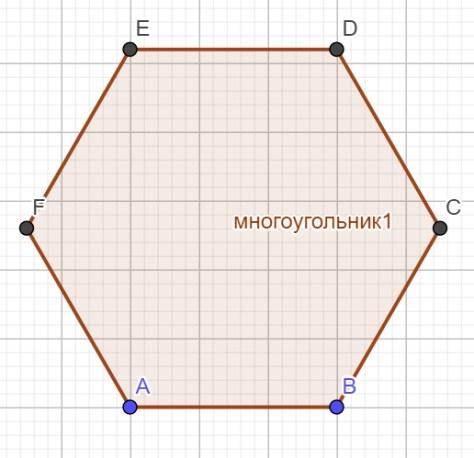 окружность - шестиугольник