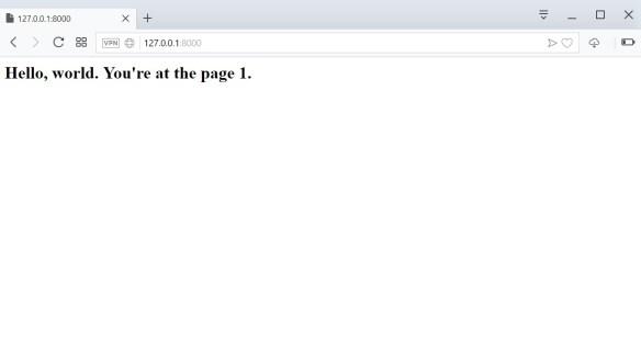Django page 1