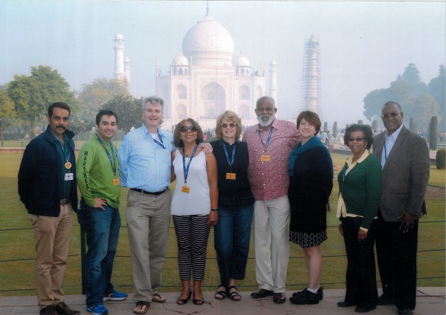Group in front of the Taj Mahal