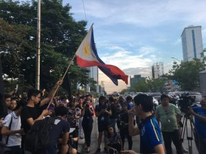UP Law students join mobilization after CJ Sereno ouster