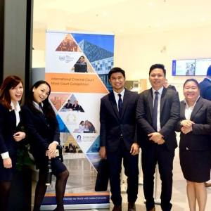 UP Team bags Team Prize in Best Victim's Counsel at the 2018 ICC Moot Court Competition