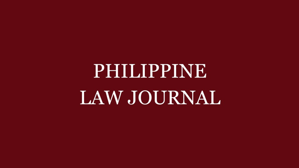 Philippine Law Journal Vol.95 Student Editorial Board Exam